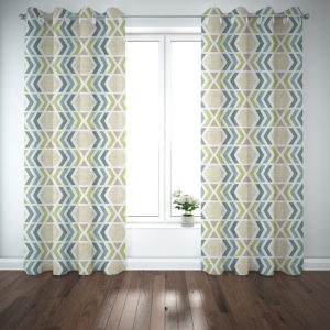 Southwest Diamond Pattern P482 in Cream on Curtains for Home