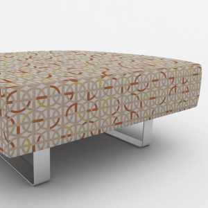 Greek Interlace Pattern P487 in Orange on Upholstery for Office Reception Seating