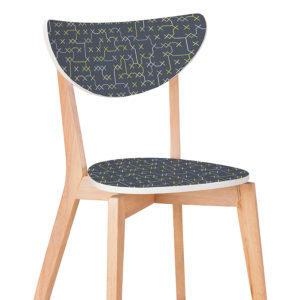 Skip Cross Stitch Pattern P497 in Blue Printed on Chair for Education