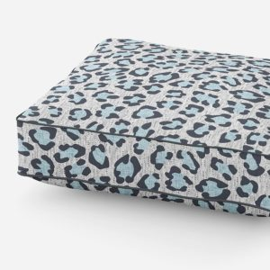 Modern Leopard Pattern P586 Blue on Cushion for Sofa or Chair