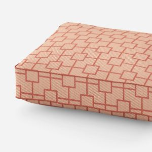 Double Lattice Pattern P598 in Orange on Cushion for Sofa or Chair