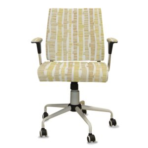 Stylized Trees Pattern P536 in Yellow on Office Task Chair