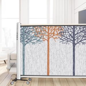 Hingham Woods Pattern P529 in Blue on Privacy Screen