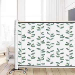 Watercolor Leaf Vines Pattern P632 in Green as Privacy Screen