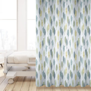 Cypress Trees Pattern P578 in Aqua Printed on Privacy Curtain