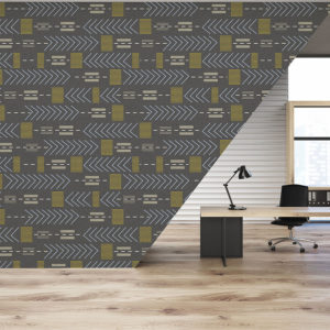 Urban Paths Pattern P365 in Gray on Wallpaper