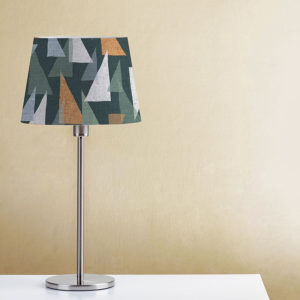 Triangle Overlay Pattern P609 in Aqua on Lamp Shade for Home