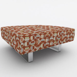 Circle Gets the Square Pattern P608 in Orange on Ottoman for Office Reception