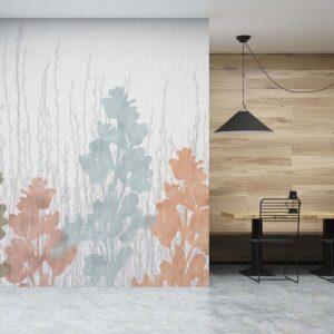 Allure Pattern P1102 in Orange Wallpaper