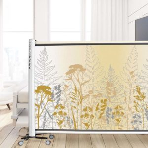 Countryside Pattern P1106 in Yellow Privacy Screen