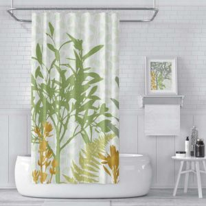 Conservatory Pattern P1141 in Green Shower Curtain