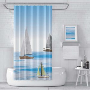 Sailing Pattern P1602 in Blue Shower Curtain