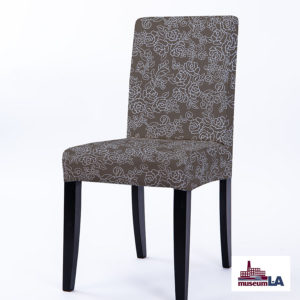 Floral Outline for Museum L-A Pattern P1671 in Brown Upholstered on Chair