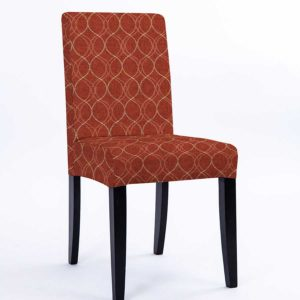 Double Ogee Stitch Pattern P714 in Red Upholstered on a Chair