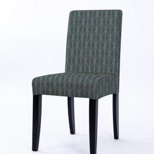 Striped Lattice Pattern P722 in Aqua Upholstered on Chair