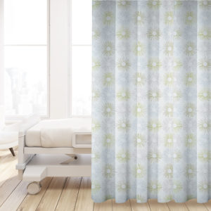 Stitched Starburst P619 in Gray on Privacy Curtain