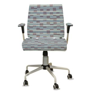 Kinetic Pattern P789 in Blue on Upholstery for Task Seating
