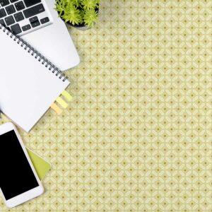Diamond Ditsy Pattern P709 in Yellow as Office Desktop