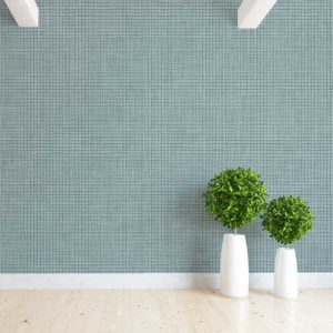 Linen Texture Pattern P784 in Blue on Wallpaper