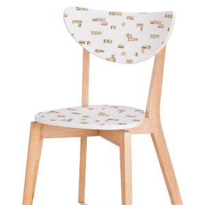 Jazz Pattern P692 in Pink on Wood Chair