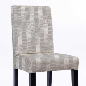 Undulating Stripe Pattern P1570 in Gray Chair Side
