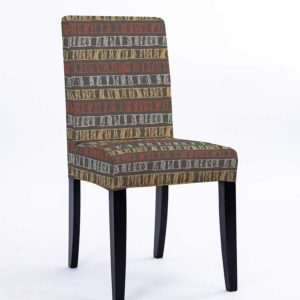 Sketch Stripe Pattern P982 in Red Chair