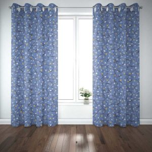 Arbor Pattern P915 in Blue on Curtains