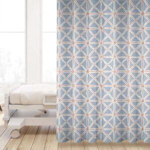 Tie Dye Folds Pattern P1081 in Blue HC Privacy Curtain