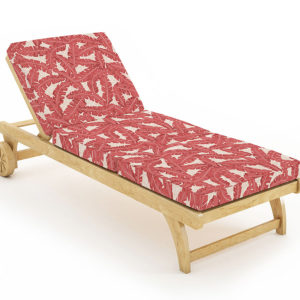 Tropicana Pattern P1082 in Red Lounge Chair