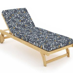 Beech Tree Pattern P846 in Blue on Lounge Chair