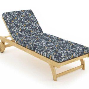 Beech Tree Pattern P846 in Blue on Lounge Chair