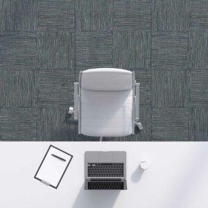 Sketch Block Pattern P1000 in Blue Office Carpet