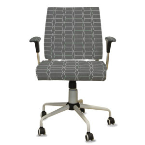 Parenthesis Pattern P700 in Gray on Office Chair
