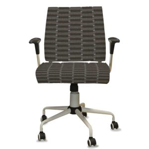 Stacked Blocks Pattern P799 in Brown Upholstered on Chair