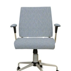 Connect the Points Pattern P913 in Blue Upholstered on Chair