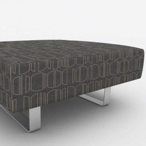 Line Drawing Pattern P993 in Brown on Office Ottoman