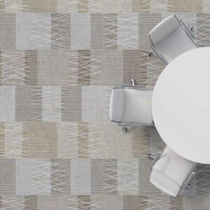 Traverse Pattern P814 in Brown on Carpet