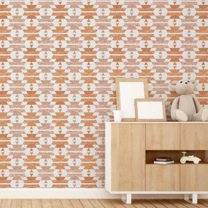 Chinle Pattern P975 in Orange Wallpaper