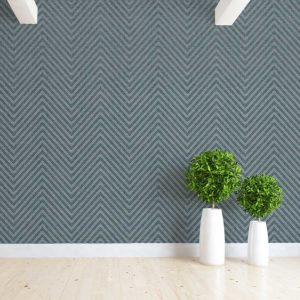 Textured Chevron Pattern P715 in Aqua as Wallpaper