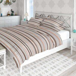 Sunset Stripe Pattern P1100 in Pink Bed Coastal