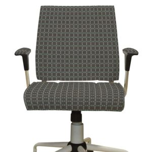 Mini Plaid Texture Pattern P932 in Brown on Office Chair