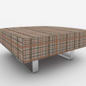 Awesome Plaid Pattern P1101 in Pink Office Ottoman