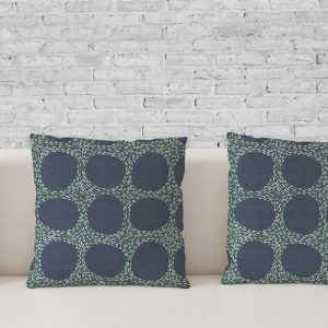 Beaded Circles Pattern P1276 in Blue on Pillows for Home or Office